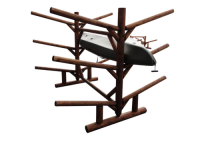 log kayak rack 1
