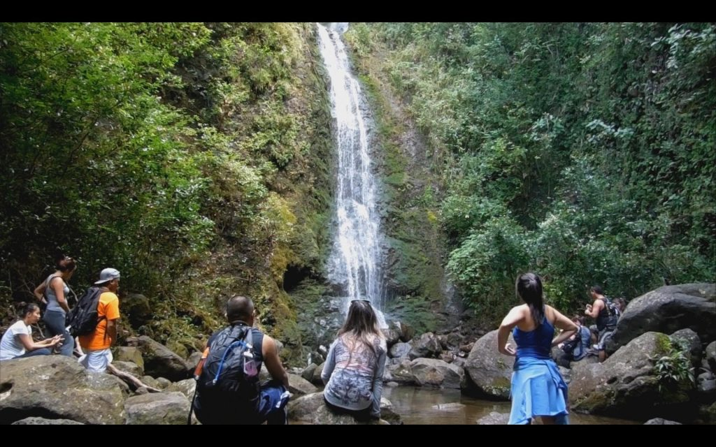 The hiking trip in Hawaii