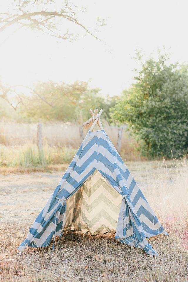 blue tents can be used as a shower camp